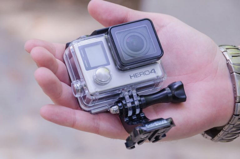 Go pro on a hand