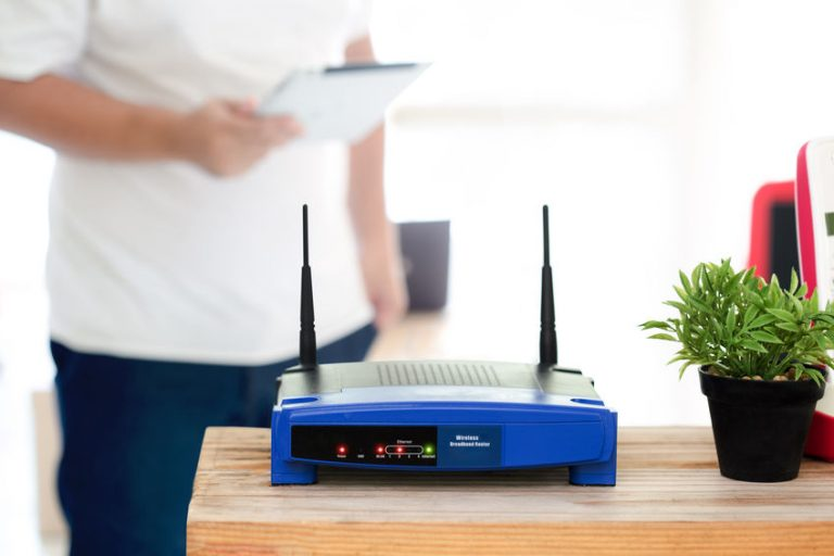 Blue wireless router